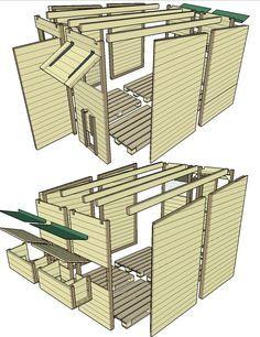 plan d'ensemble du poulaillier en palettes