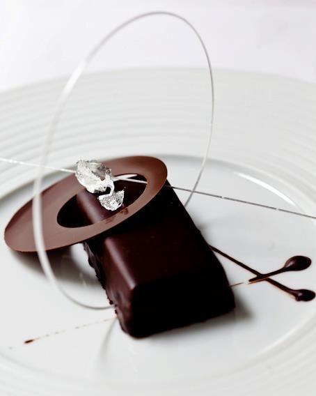 Quince Restaurant. Restaurant of Grand Chef Relais & Châteaux Michael Tusk. San Francisco, CA, USA. #Restaurant #Dessert #Gourmet #Red #MichaelTusk #Chocolate