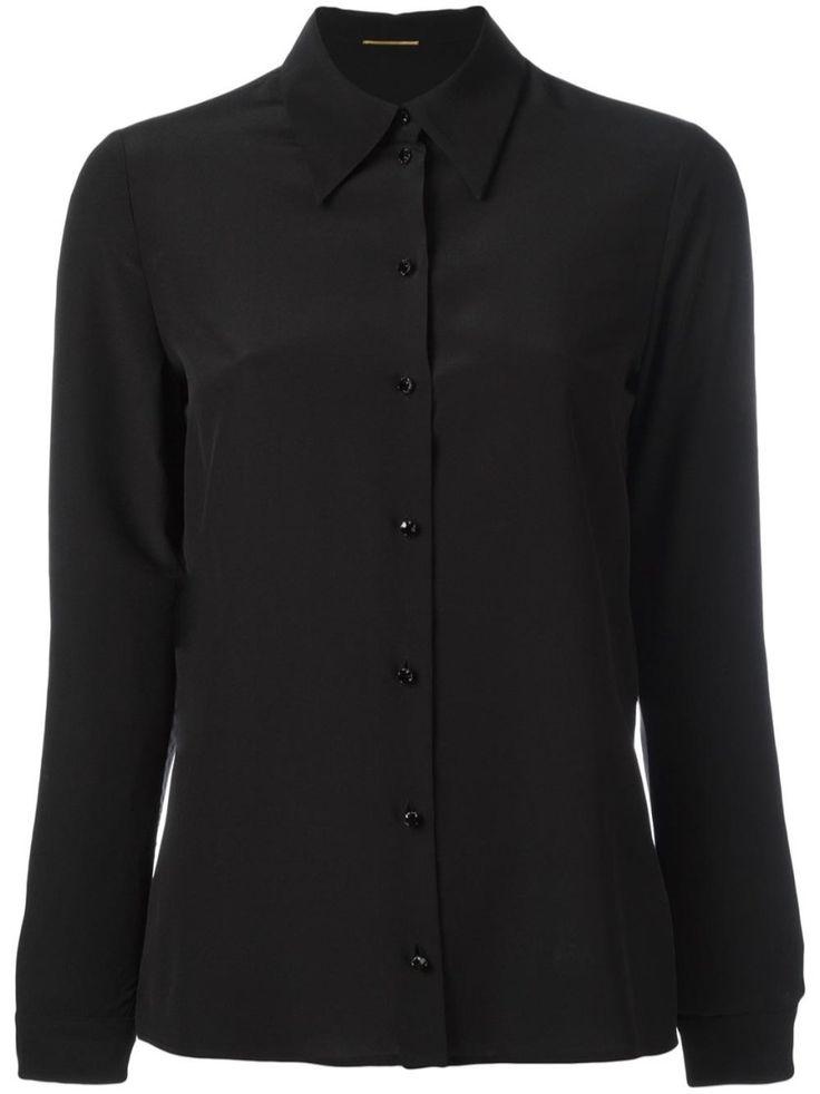 SAINT LAURENT Black long sleeve shirt