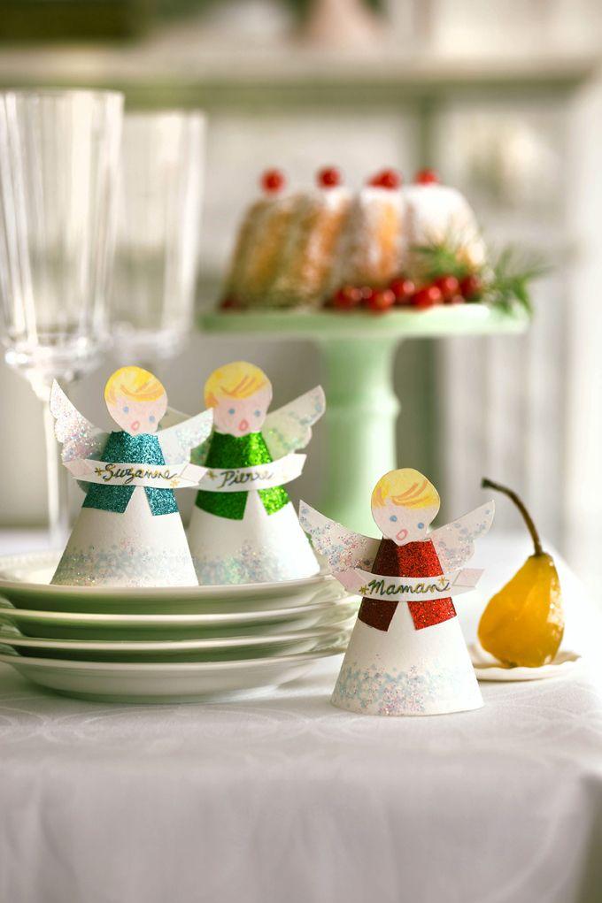 DIY Noël  des marques-places en forme d ange - Marie Claire Idées 96ecc4c48f5