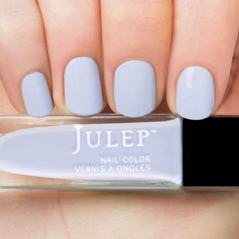 Julep Jessica, a pale blue creme nail polish.