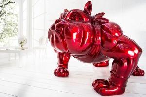 Niecodzienna rzeźba dekoracyjna - buldog wykonany w stylu PopArt. Rzeźba będzie idealnie pasowała do minimalistycznych, loftowych, ekstrawaganckich mieszkań dodając im przysłowiowy pazur. Rzeźba Buldog PopArt będzie dobrym pomysłem na prezent, szczególnie dla miłośników tych pięknych psiaków oraz PopArtu. Rzeźba jest wykonywana ręcznie, dlatego każda jest wyjątkowa i niepowtarzalna.