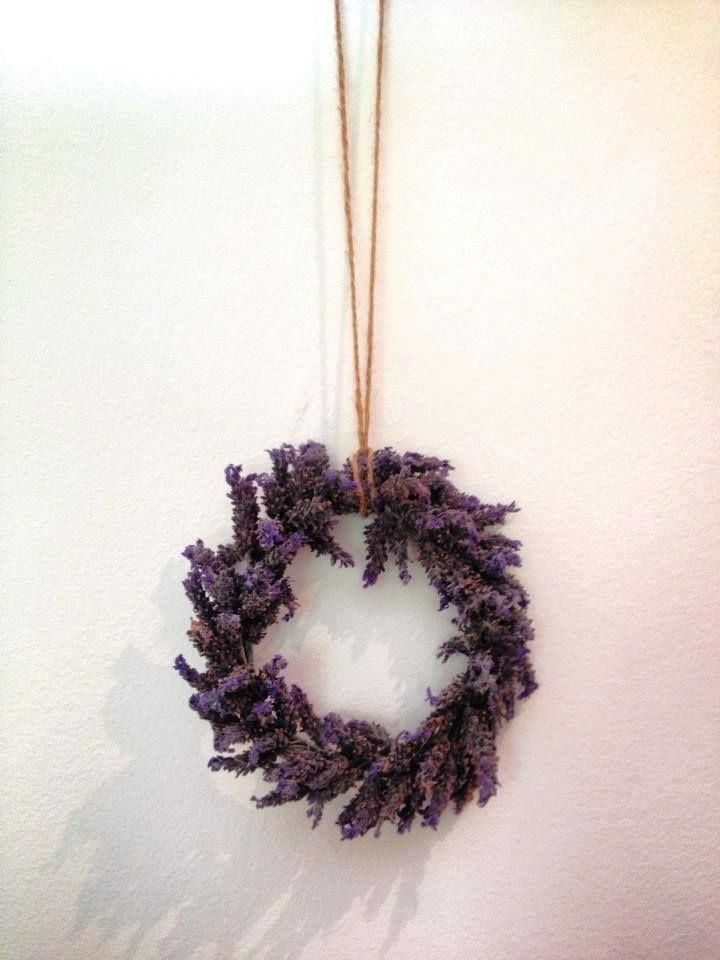 Handmade lavender wreaths