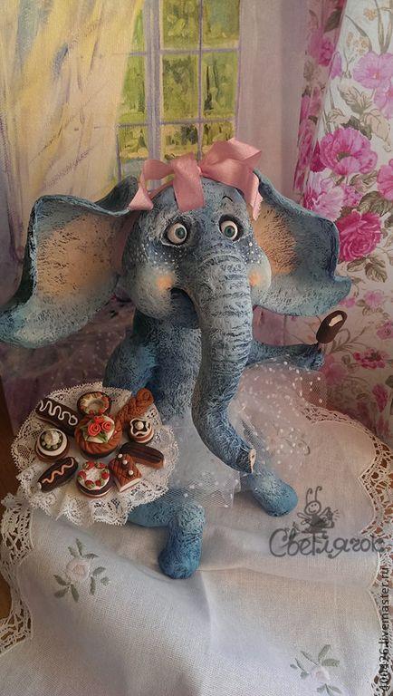 Купить Розовые мечты о сладкой жизни))) - слон, слоник, животные, игрушка, авторская игрушка
