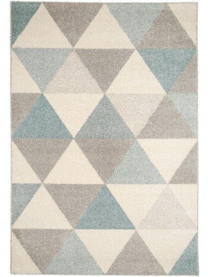 Teppich Pastel Geomet Türkis