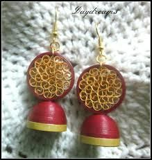 Image result for quilled jhumkas