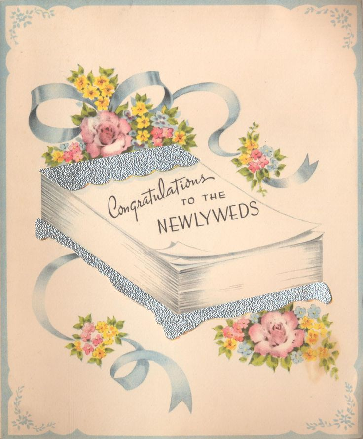 1930s 1940s Wedding Cards Vintage Cards1940s WeddingVintage Greeting