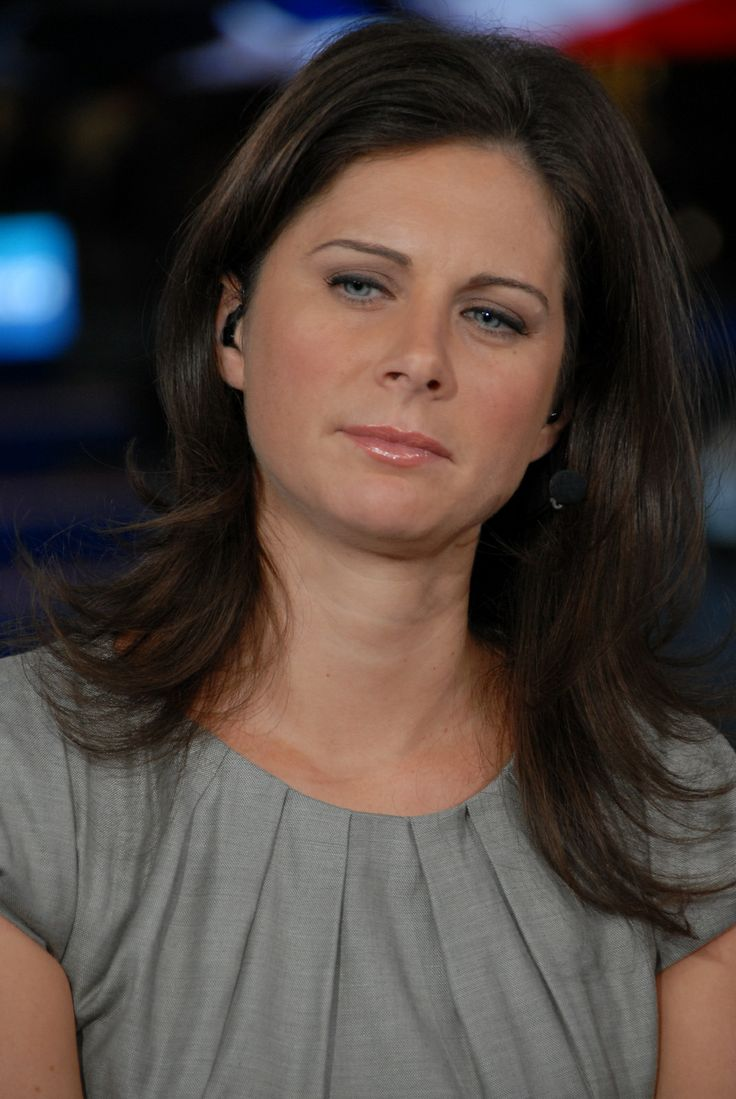 Fine Erin Burnett Casual Hair Tucked Behind The Ear Hairstyles Hairstyle Inspiration Daily Dogsangcom