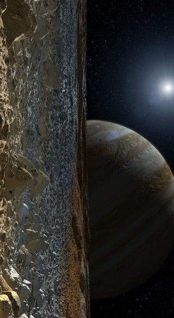 View of Jupiter from Europa