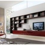 Book Storage Wall Units Crossing Decoration Interior
