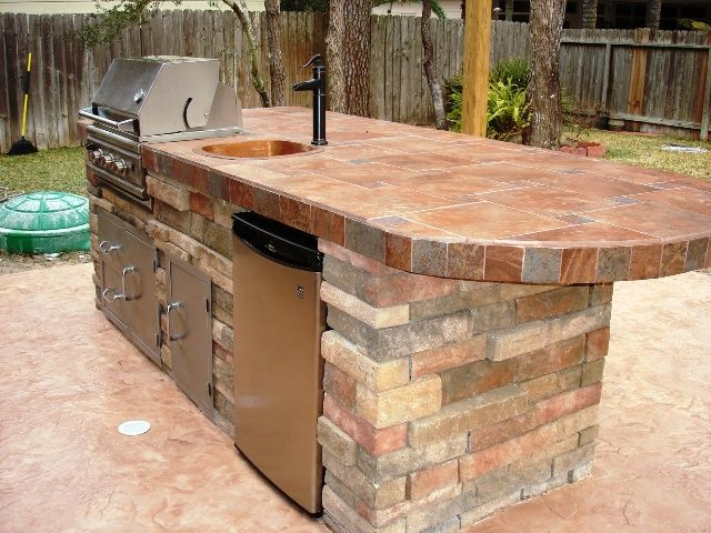 Nice outdoor bbq set up for our future home pinterest for Outdoor kitchen ideas small spaces
