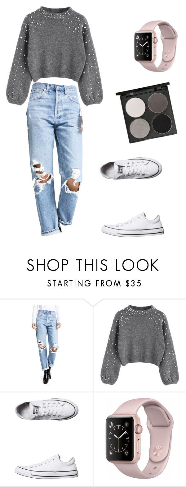 """""""Untitled #254"""" by denysa-boldog on Polyvore featuring AGOLDE, Converse and Gorgeous Cosmetics"""