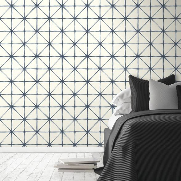 Roommates Modern Abstract Peel Stick Wallpaper Blue Peel And Stick Wallpaper Room Visualizer Decorating Solutions