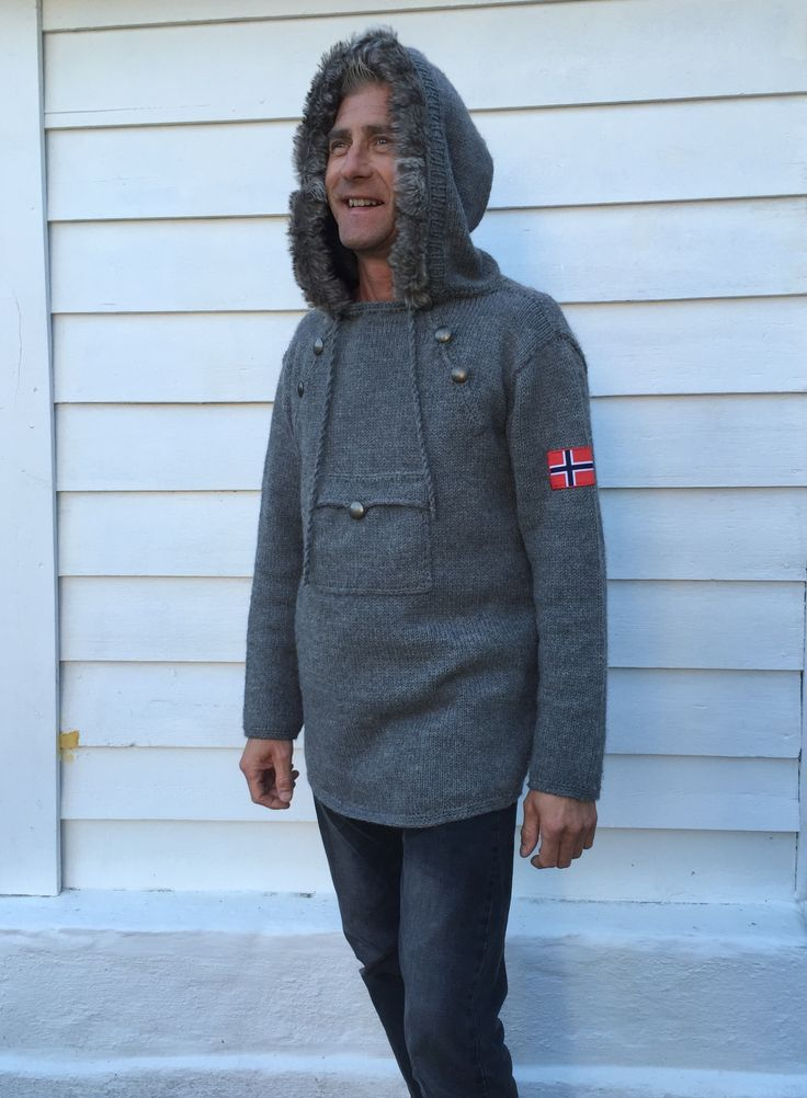 Pattern The Norwegian Knitted Anorak - Adult - size:  XS/S – M – L – XL – XXL –…