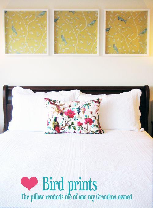 framed wallpaper: Frames Wallpapers, Decor Ideas, Pretty Wallpapers, Frames Prints, Guest Beds, Art Ideas, White Frames, Diy, Cheap Wall Art