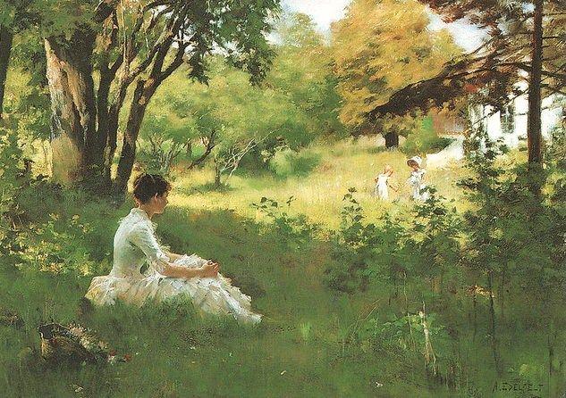 Albert Edelfelt (Finnish artist, 1854-1905) Summer 1883 It's About Time