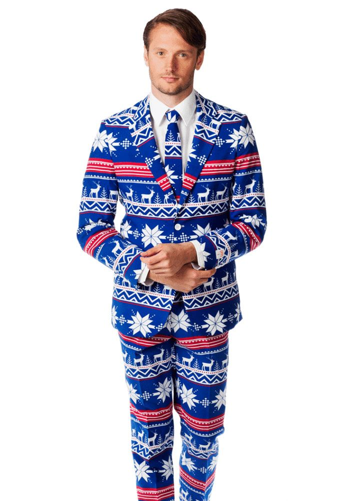 Ugly Chirstmas Sweater Suit.... there is such a thing as too much