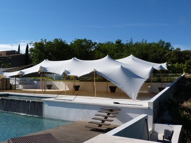 tentes stretch organic concept installation aqua mariage de rve - Palm Beach Cannes Mariage