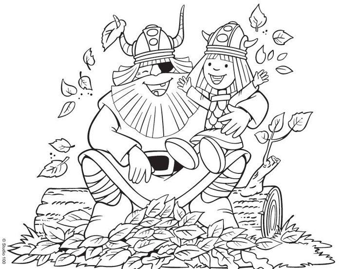 ausmalbilderbild von ada nowakowska auf vicky the viking