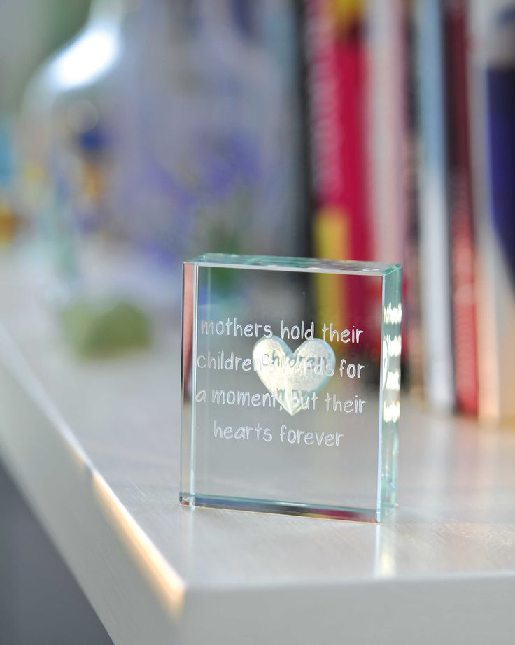 'Mothers hold their children's hands for a moment, but their hearts forever' a sweet message to celebrate the strong bond between a mother and her child. #Love #Mother #Family #Gift #Token #Spaceform #London