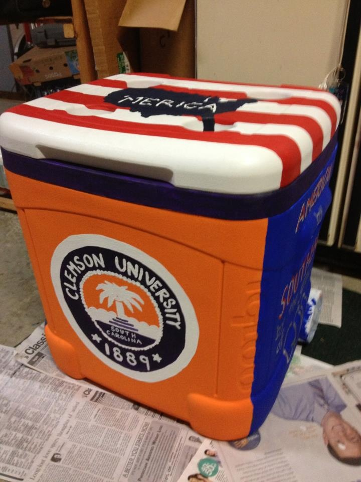 clemson painted cooler ideas thegame gotigers https
