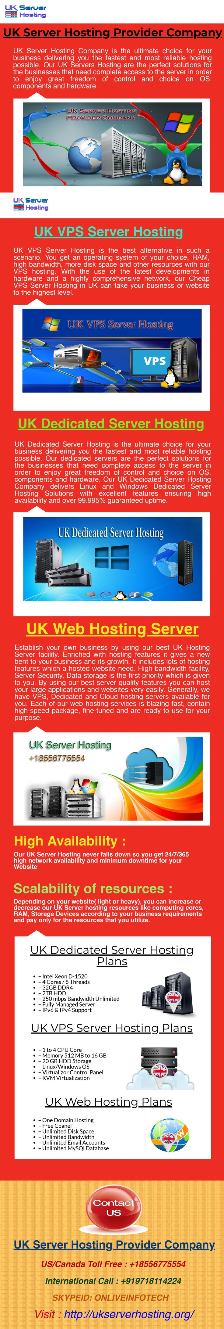 UK Server Hosting Company provides hosting features that can help to your business to grow up. It includes lots of hosting features like high speed bandwidth, RAM, Security and DDOS network protection. that will help to protect your server from unauthorized access.  For more information visit our website -  http://ukserverhosting.org/uk-dedicated-server/
