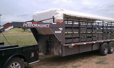 Horse Trailers and Accessories 73934: Performance Cattle Trailer Tarp Top Fits 28 X 6 Wide Gooseneck -> BUY IT NOW ONLY: $438 on eBay!