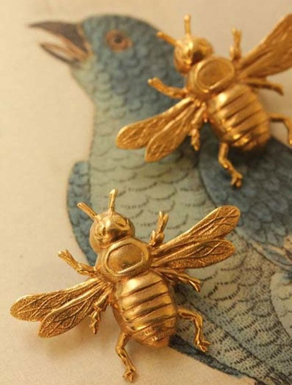 Napoleonic Bee Brooch in Brass. Only $15 each with 5% of profits going to Australian Honey Bee research.