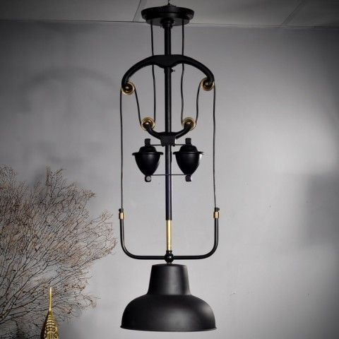 1890 S COUNTER BALANCED PULLEY CEILING PENDANT H1370 L320 D320