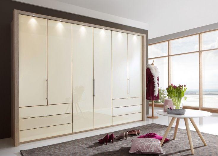 Kleiderschrank Loft 313,0 cm Eiche Sägerau mit Glas Magnolie 9635. Buy now at https://www.moebel-wohnbar.de/kleiderschrank-loft-313-0-cm-eiche-saegerau-mit-glas-magnolie-9635