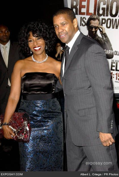 Denzel Washington and wife, Paulette...married since 1983