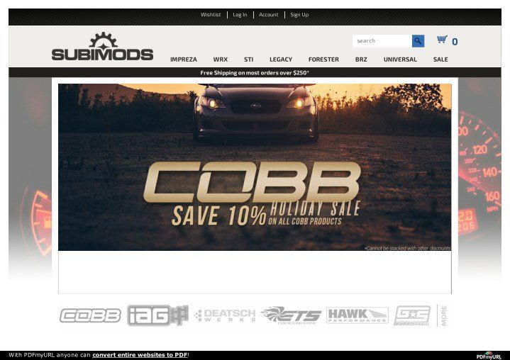 Subimods - Subaru Performance Parts - Lowest Prices Free Shipping - PowerPoint PPT Presentation