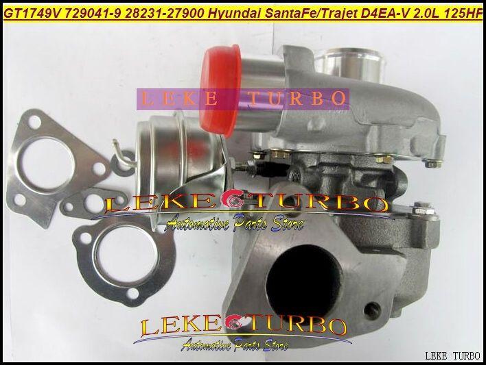 318.49$  Watch here - http://aliou0.worldwells.pw/go.php?t=592815885 - GT1749V 729041-5009S 729041-0009 729041 28231-27900 Turbo Turbocharger For HYUNDAI Santa Fe 2003-05,Trajet 2002- D4EA-V 16v 2.0L 318.49$