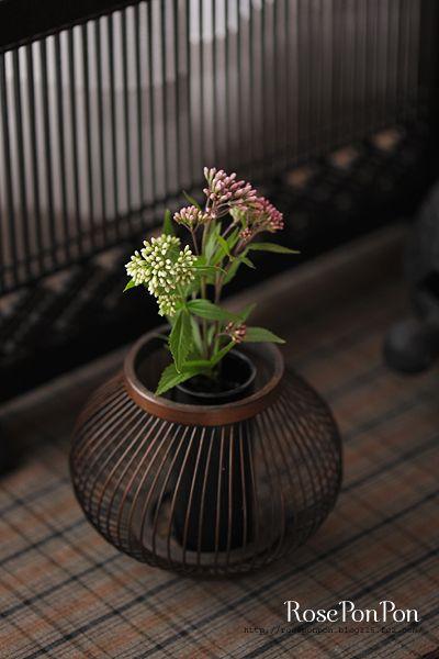 Japanese bamboo flower basket