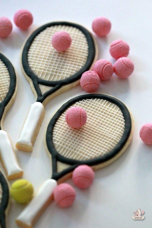 galletas de la raqueta de tenis