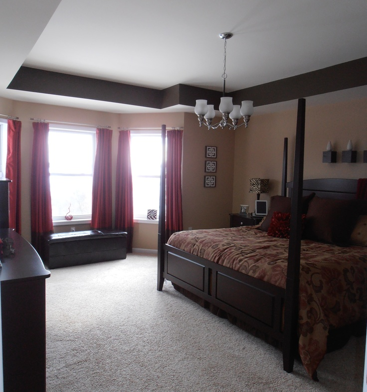 61 Best Images About Brown And Red Bedroom On Pinterest