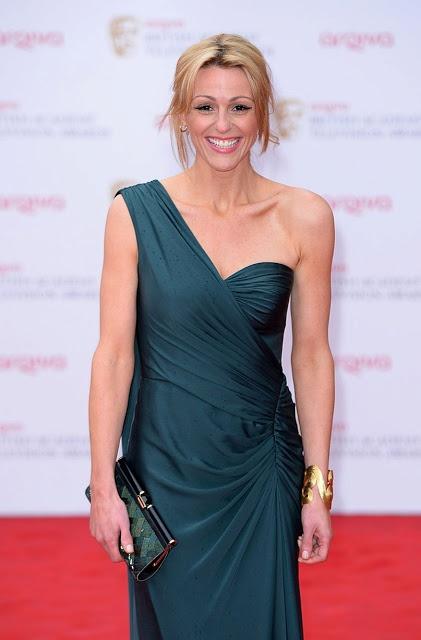 BAFTA Awards, Suranne Jones, one shoulder charcoal dress