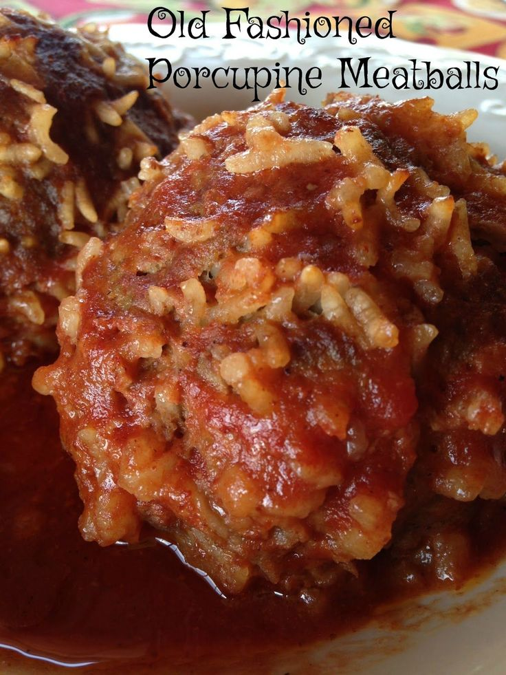 old fashioned porcupine meatballs, #sundaysupper