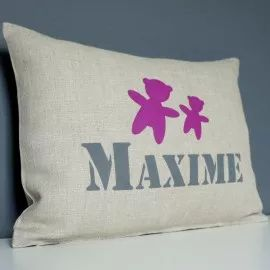 COUSSIN PERSONNALISE OURSONS