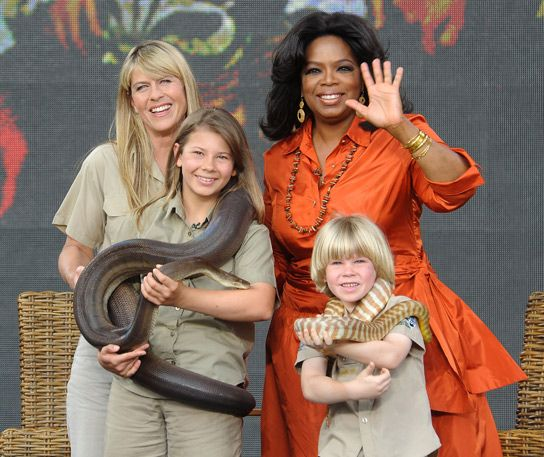 Steve when he married terri | With Oprah in Australia for a series of shows, Steve's widow and two ...