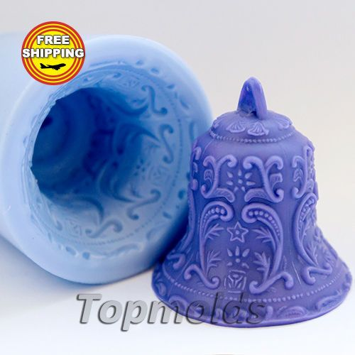 Bell-soap-mold-Food-grade-silicone-christmas-mold-angel-mold-Free-shipping