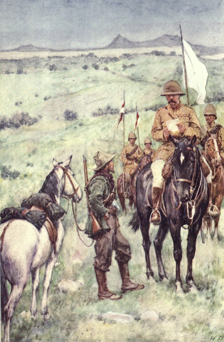 Kitchener and General Cronje's messenger, Paardenberg, February 19, 1900