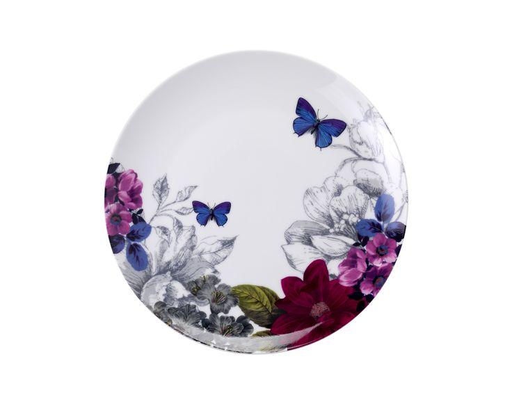Decorated with subtle sketching and floral illustration, this dinner plate is an artful addition to any dining collection. Priced at £4