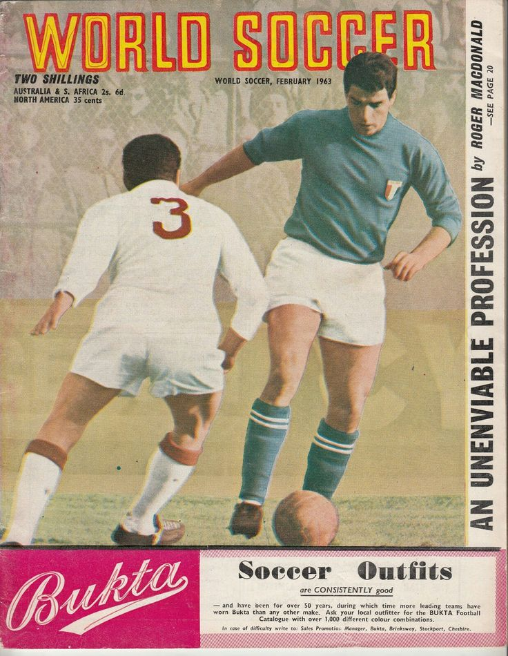 World Soccer magazine in Feb 1963 featuring the Italy 6 Turkey 0 game on the cover.