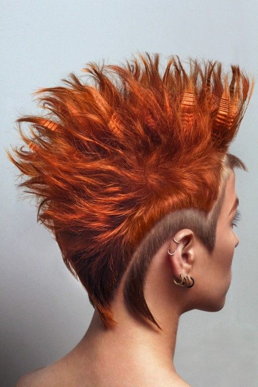 Mohawk.................................,..............Iguanna коллекция Hair Tattoo 2014 Femina decus — HairTrend.ru