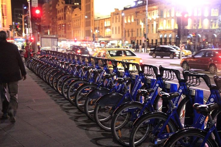 Bikes by night. by Awes Amin