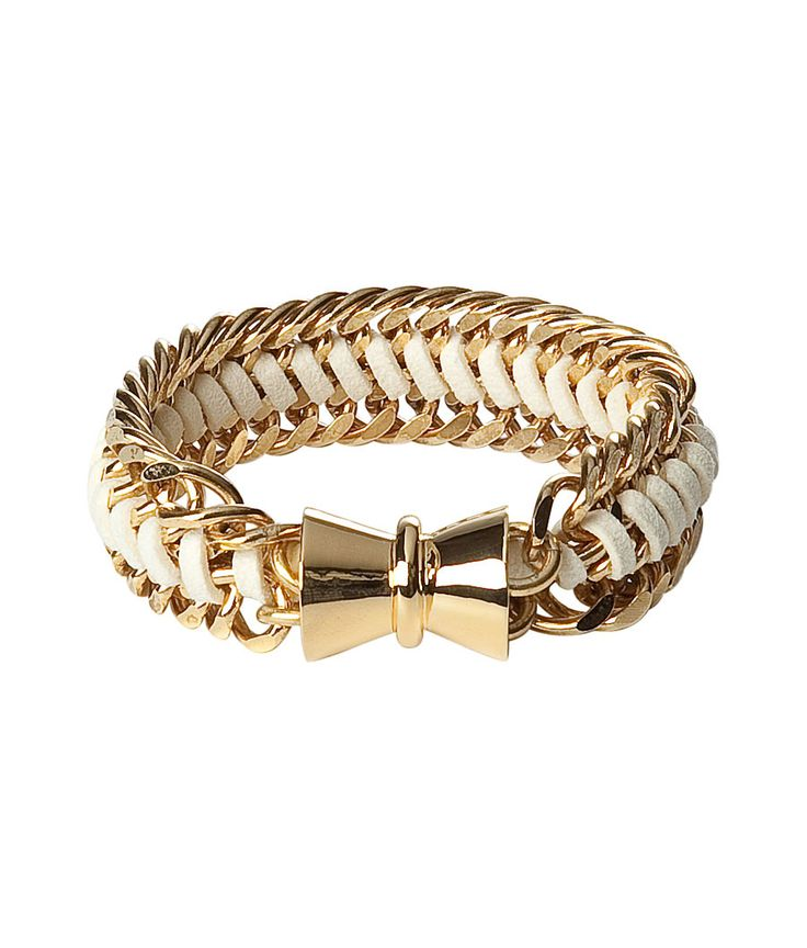 Gold Plated Bracelet With Large Magnet