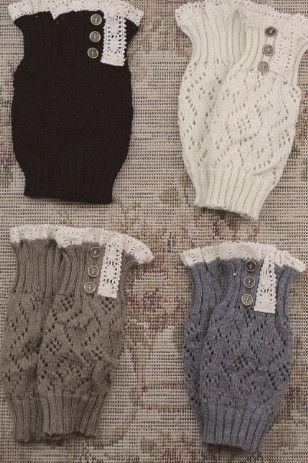 Crochet Lace Boot Cuffs