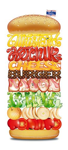 Burger typography