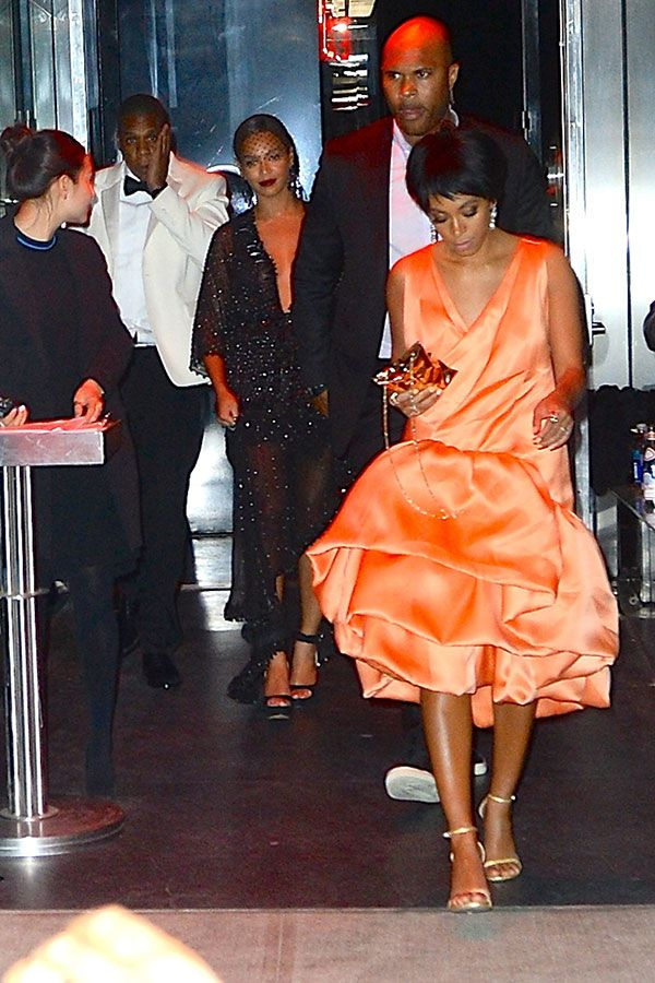 Jay Z and Solange Knowles with Beyonce at the Met Gala
